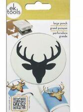 """DEER HEAD 2"""" Christmas Punch by EK Success Tools (54-3022) NEW Priority Ship"""