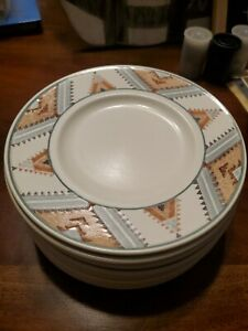 MIKASA INTAGLIO SANTA FE set of 8 BREAD BUTTER SIDE PLATES EXCELLENT