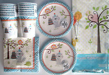 HAPPI WOODLAND Boy - Birthday Party Supply Set Pack Kit for 16