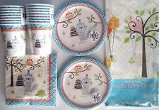 HAPPI WOODLAND Boy - Birthday Party Supply Set Pack Kit for 16