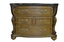 """Beautiful Painted Marble Top Bombe' Chest, 3 Drawer, 48""""W,  PA4983"""