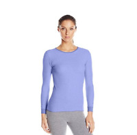 Fruit of the Loom Women's Long Sleeve Waffle Thermal Crew Top, Purple, X-Small