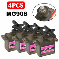 4pcs MG90S Digital Micro Servo Metal Motor Gear For RC Helicopter Car Airplane