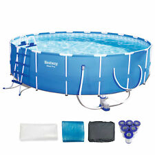 "Bestway Steel Pro 18' x 48"" Frame Pool Set + 6 Coleman Replacement Cartridges"