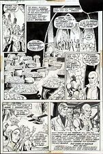 1972 DOC SAVAGE #2 ORIGINAL ART PAGE LAST PG 2/3 SPLASH ROSS ANDRU & ERNIE CHAN Comic Art