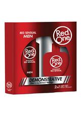 Red One Herren Parfüm Edt und Deo Set RED SENSUAL Herren Pflege Set (100ml/8,00€