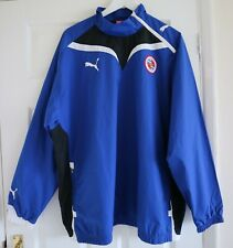 Puma Reading Football Club Blue Zip Neck Pullover Training Windbreaker Top XL