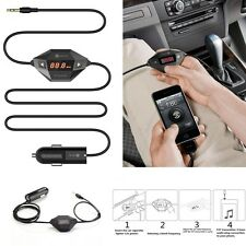 Black FM Transmitter Car Kit 3.5mm AUX Audio Stereo Adapter With USB Charger New