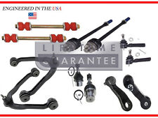 (12pc) Front Upper Control Arm Lower Ball Joint Tie rod Pitman Idler Arm 6 Lug