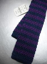 BROOKS BROTHERS Silk Knit Tie - Slim - Navy Blue Purple  $79.50 ~ NWT New USA
