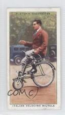 1939 Player's Cycling Tobacco Base #30 Italian Velocino Bicycle Card 1h2