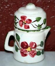Vintage Hand Painted Porcelain Teapot Coffee Pot Salt & Pepper Shakers Set ~Sp2