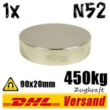 Neodym Magnet 90x20mm 450kg Zugkraft N52 - großer starker Hochleistungsmagnet