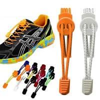 Pair Of Locking Shoe Laces Elastic Shoelaces Shoestrings Running/Jogging/Triathl