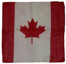 "Wholesale Lot 12 (1 Dozen) 22""x22"" Canada Canadian Red White Bandana"