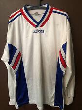Maillot de football shirt Equipe de France porté ADIDAS Ventex base trikot RARE