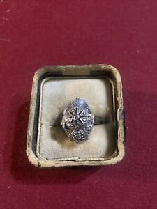 Sterling silver finger ring watch ring watch Huguenin Swiss Watch