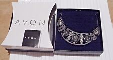 Avon.CAMAEL NECKLACE Black+Clear Stones.EMBELLISHED(1st Post)MOTHERs DAY GIFT?