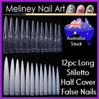 12pc Extra Long Stiletto Claw Nail Tips False Pointy Nails Sharp Gel Acrylic