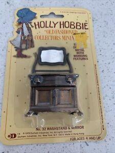 Holly Hobbie Die-Cast  Dollhouse Furniture Miniature 1976 no. 32 WASHSTAND &MIRR