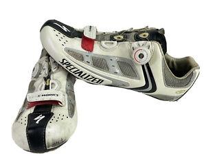 Specialized BG S-Works Road Shoe Mens White BOA Cycling Bike Shoes Sz 44.5 10.5
