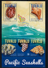 Tuvalu 2013 neuf sans charnière Pacific coquillages 5V m / s cowry shell Clam Nautilus wentletrap