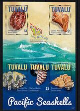 Tuvalu 2013 Mnh Pacific Conchas Marinas 5v m/s Cowry concha de almeja Nautilus wentletrap