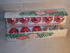 Vintage Shiny Brite Glass Christmas Tree Ornaments Cotton Candy Pink made in USA
