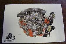 1963 CHEVROLET ONE HUNDRED YEARS ENGINE ILLUSTRATIONS BY DAVID KIMBLE POSTCARD