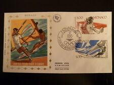 MONACO PREMIER JOUR FDC YVERT 1579/80    TENNIS, VOILE     3+5F    MONACO  1987