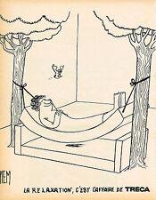 PUBLICITE  1973   TRECA  matelas LA RELAXATION  par PIEM