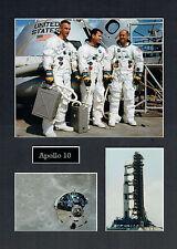 Apollo 10 16x12 Mounted Crew Photo Astronaut Space Montage