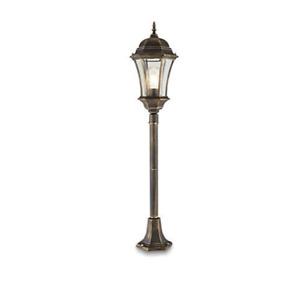 Lamp Post 6 Face Victorian Garden Patio Drive Lighting Aluminium & Glass IP44