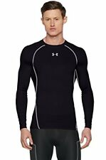 Under Armour Heatgear Compression shirt À manches longues Acier Noir 1257471-001 3xl
