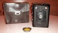 Fotoapparat Boxkamera Zeiss Ikon Erabox mit Original Ledertasche Gelbfilter