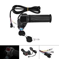 24 36 48 60 72V LED Digital Meter Electric Bike Scooter Throttle Grip Handlebar