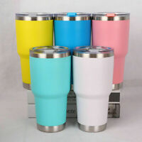 850ml Metal Insulated Travel Cup Flask Mug Tumbler Stainless Steel Coffee Tea UK