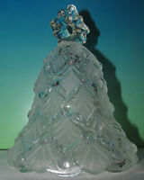 MIKASA Germany Winter Dreams Frosted Crystal Glass Christmas Tree Shape Bell