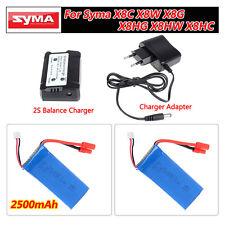2 pcs 2500mAh Lipo Batteries+2S Balance Charger Kit for Syma X8C X8W X8G X8HG