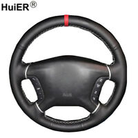 Hand Sewing Car Steering Wheel Cover For Mitsubishi Pajero 2007-2014 Galant 2012