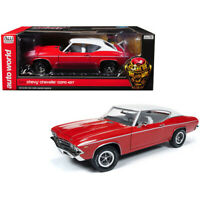 Auto World 1:18 1969 Chevrolet Chevelle COPO 427 & White Top Model Red AMM1169