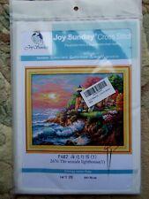NEW~JOY SUNDAY CROSS STITCH TAPESTRY KIT~THE SEASIDE LIGHTHOUSE ~ 44 X 36cm