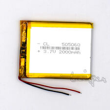 3.7V 2000mAh LiPo Polymer Battery Rechargeable 505060 for GPS Bluetooth MP3 PAD