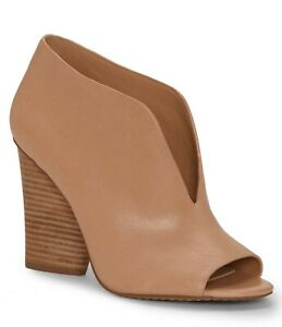 Vince Camuto Andrita Leather Block Heel Booties, Multip Sizes Morocco VC-ANDRITA