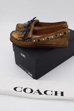 Coach Roccasin Slip On Mocassin Flats Gold Metallic Gold Size 7 $195