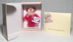 """6"""" Annette Funicello Peppermint Twist Mohair Bear w/ Box Limited Ed 44/2500 Made"""