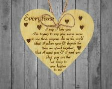 I Love You Plaque Heart Special Anniversary Valentines Day Gift for Husband Wife
