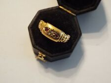 Antique 18ct Gold Ruby & Diamond Ring Size N