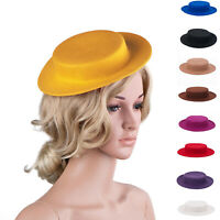 Womens Fascinator Wool Felt Boater Cocktail Beret Mini Hat Millinery Base A059