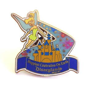 Disney Collector Pin Castle and Tinkerbell Energizer Promo DIsneyland 2005
